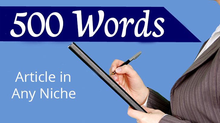 700 to 1700 -Word Article in any Niche